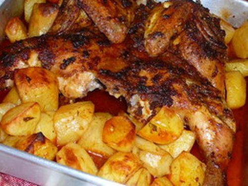 frango-assado-forno-chourico