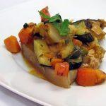 Costeletas no Forno com Legumes