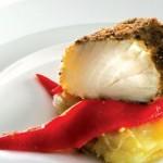 Bacalhau Frito com Cogumelos