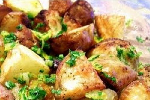 Batatas Assadas Com Alho Limao E Salsa Receitas E Menus C