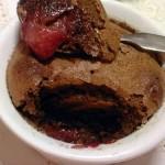 Creme de Chocolate no Forno com Morangos