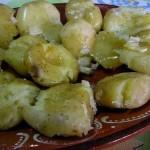 Batatas a Murro no Microondas