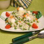 Risoto de Legumes com Queijo Mozzarela