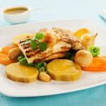 Bacalhau Grelhado com Legumes