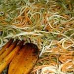 esparguete-vegetais-alho-coentros