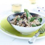 Risoto de Espinafres e Cogumelos