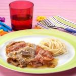 Bifinhos com Esparguete