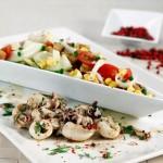 Choquinhos com Salada