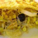 Folhadão de Bacalhau com Legumes