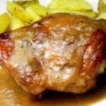 frango-dourado-molho-cebola