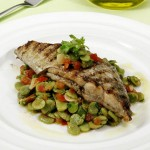 Peixe-Espada com Salada de Favas