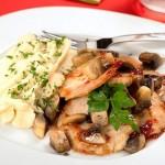 Peru com Cogumelos e Pure