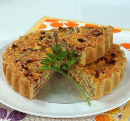 tarte-bacon-cogumelos