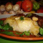Bacalhau à Lagareiro com Batata Doce
