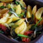 Batatas com Espinafres
