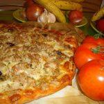 Pizza de Atum com Azeitonas