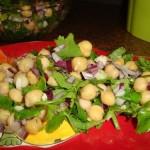 Salada de Grão com Coentros