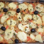 Bacalhau no Forno com Courgettes