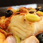 Bacalhau à Posta no Forno com Legumes