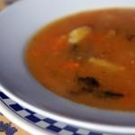 Sopa de Abóbora com Agrião