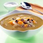 Sopa de Feijão-Frade com Couve