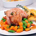 Bifes de Porco Recheados com Legumes