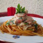 Camarão Aveludado com Esparguete Picante