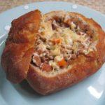 Pão Recheado com Carne Picada