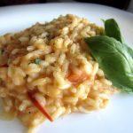 Risotto de Tomate-Cereja com Queijo Feta