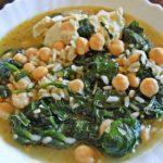 Sopa de Grão com Espinafres e Arroz