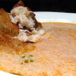 Sopa de Sapateira e Moscatel