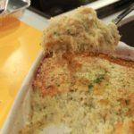 Bacalhau Gratinado com Migas de Couve-Flor