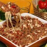 Carne Picada com Esparguete