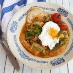 Sopa de Ovos com Feijão Verde e Hortelã