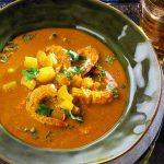 Sopa de Caril com Camarão