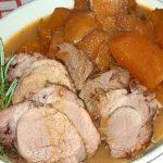 Lombo de Porco com Abóbora e Castanhas