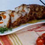 Lombo de Porco com Morcela e Cenoura