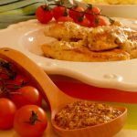 Peitos de Frango Grelhados com Molho de Sementes de Mostarda