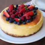 Cheesecake de Frutos Silvestres no Forno