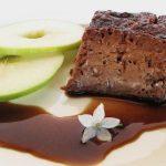 Flan de Chocolate com Canela