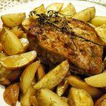 Lombo de Porco com Tomilho e Batatas com Alecrim no Forno
