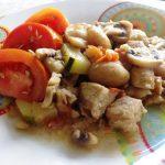 Carne de Porco com Castanhas e Cogumelos