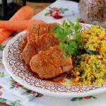 Lombinhos de Porco com Caril de Couscous e Legumes