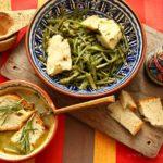 Sopa de Cardos com Bacalhau Alimado