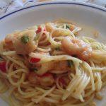 Esparguete com Tamboril e Camarão