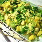 Salada de Frango e Manga com Caril