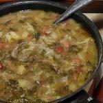 Sopa de Couve com Feijão