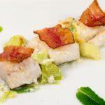Bacalhau Assado com Alho Francês e Bacon